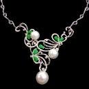 18K South Sea Pearl Diamonds with Jadeite Necklace (Hong Kong)