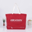 Landscape Red Cotton Shoulder Bag (Hong Kong)