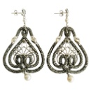 Pave Diamond Snake Earrings (Mainland China)