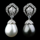 18K White Gold Diamond South Sea Pearl Earrings (Hong Kong)