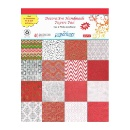 Paperhues Christmas Scrapbook Red & White A4 Pad (India)