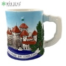 Landscape Embossed Ceramic Cup with Handle (Hong Kong)