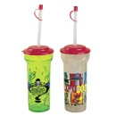 Plastic Tumbler with Straw and Lid (Hong Kong)