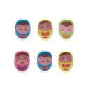 Kids Face Tumbler Rubber Easter Eggs (set of 6) (Hong Kong)