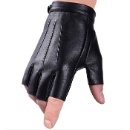 Fingerless Gloves Driving Gloves Faux Polyurethane PU Leather Touchscreen Texting Dress Moto Black G (Pakistan)