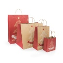 Christmas Kraft Paper Gift Bag With Paper Handle (Mainland China)