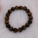 Stretched Bracelet with Tiger Eyes Beads (Hong Kong)