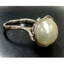 South Sea Fancy Shape Pearl Ring (Hong Kong)