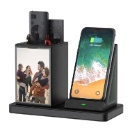 ECO Leather Pen Holder with 10w Smart Phone Wireless Charger and Picture Frame (China continental)