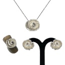 Sterling Silver Jewelry Set  (Hong Kong)
