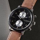 Hush Puppies Multi-Function Leather Strap Watch (Taiwan)