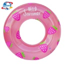36in D Pink Strawberry Customized Logo Pool Float Swim Ring for Adult Kids (Mainland China)