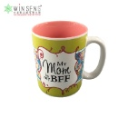 """Modern Painting with """"My Mom Is My BFF"""" Word Ceramic Cup (Hong Kong)"""