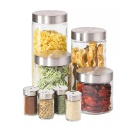 Round Airtight Glass Canister and Spice Jar Set  (Mainland China)