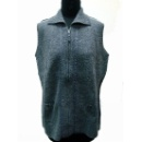 Boiled Wool Zip Thru Vest (Hong Kong)