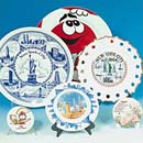 Porcelain decorative plate - souvenir & premium  (Hong Kong)