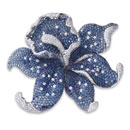 White Diamond with Blue Sapphire Pendant/Brooch (Hong Kong)