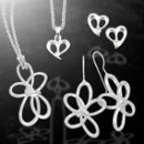 Sterling Silver 925 Pendant and Earrings Set Knot Collection (Thailand)