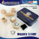 Wooden Stamp with Tin Box (Hong Kong)