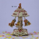 Junxin Vintage Merry-go-round Carousel 6-horse 7 IncH Resin Music Box Gift (China)