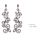 925 Silver Earring with CZ (China)