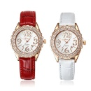 Lady Leather Watch With Zircon (China)