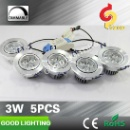 Goodlighting Ceiling Mounted Spot Light 5pcs 3W Aluminum Housing Dimmable LED Ceiling Light  (China)