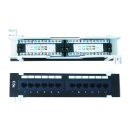 CAT5e/CAT6 RJ45 Ethernet Patch Panel 12-port for Jack, Cord or Cable (China)
