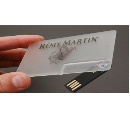 Hot Transparent Thin Card Model USB Flash Drive Drive Gift And Promotion Factory Price (Hong Kong)