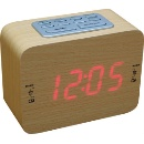 Wooden Case PLL Radio with 1.2'' LED Alarm Clock (Hong Kong)