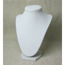 9in White Velvet Necklace Stand (China)