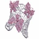 Natural Pink Diamond Butterfly Cuff Bangle (USA)