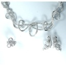 18K Gold Or Pt950 Diamond Necklace, Ring and Earring (Hong Kong)