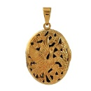 Chinese Cultural Hand-Crafted Oval Locket (Hong Kong)