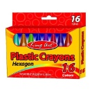 Hexagon Plastic Crayons (China)