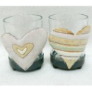 Heart-shape Candle Holder With Glass (China)